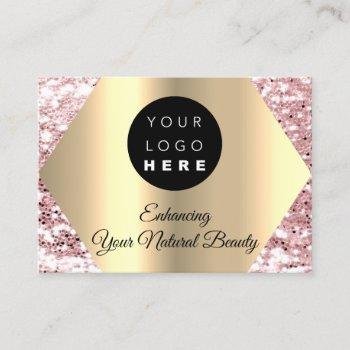 thank you for your purchase pink gold logo business card