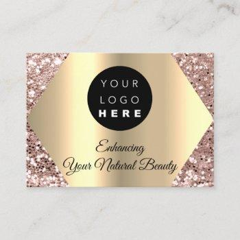 thank you for your purchase rose gold logo business card