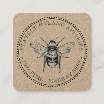 thank you our products beekeeping business card