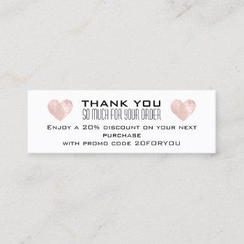 thank you poshmark instag discount code heart mini business card