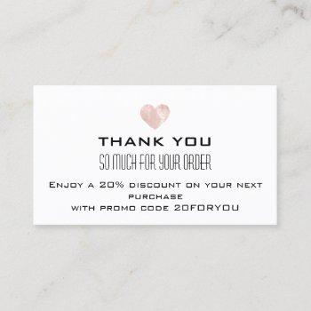 thank you poshmark instagr discount pink heart business card