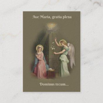 the angelus prayer annunciation of angel holy card