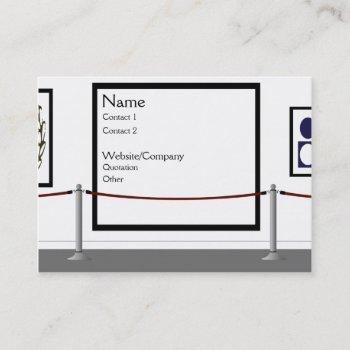 the gallery business card