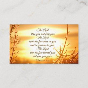 the lord bless you numbers 6:24-26 bible verse business card