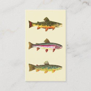 the three trout business card