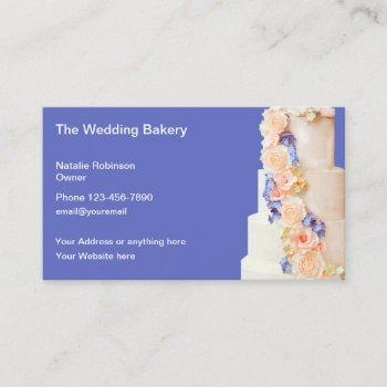 the wedding bakery & catering business card
