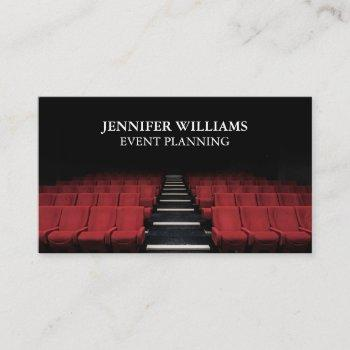 theatre performing arts event planning business card