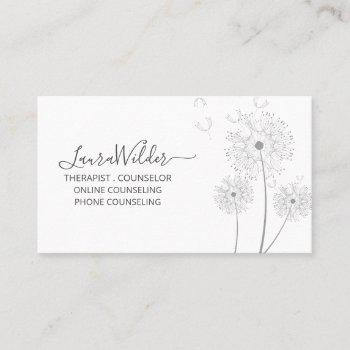 therapist counselor business card
