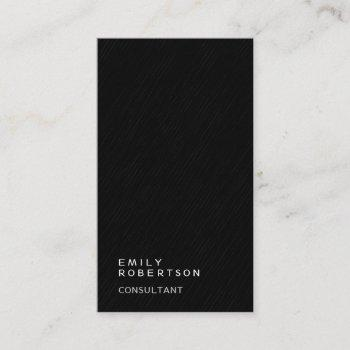 thick simple plain gray black modern minimalist business card
