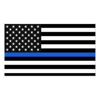 Small Thin Blue Line American Flag Business Card Back View
