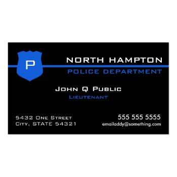 Small Thin Blue Line American Flag Business Card Front View