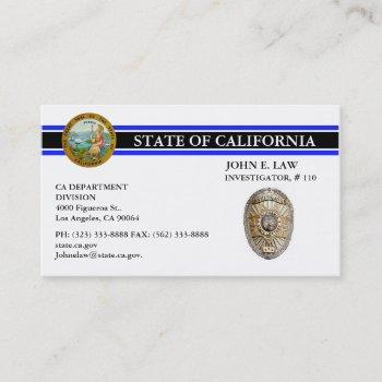 thin blue line business card for leo