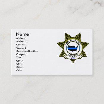 thin blue line card