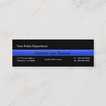 thin blue line custom business cards