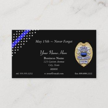 thin blue line custom patch and badge business card