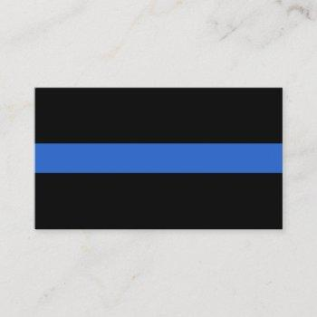 thin blue line flag police solidarity symbol usa a business card