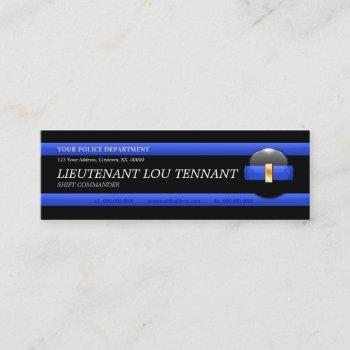 thin blue line lieutenant custom business card