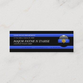 thin blue line major custom business card