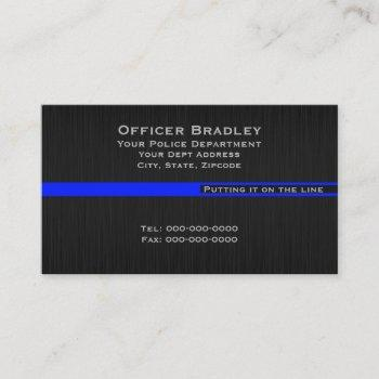 thin blue line police support leo business card