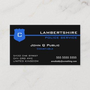 thin blue line uk flag business card