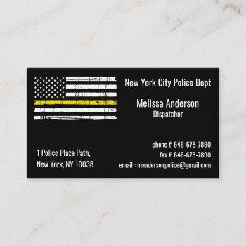 thin yellow line police fire dispatcher business card