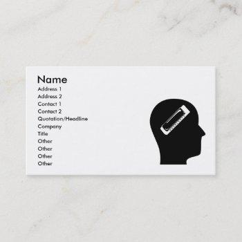 thinking about harmonica business card