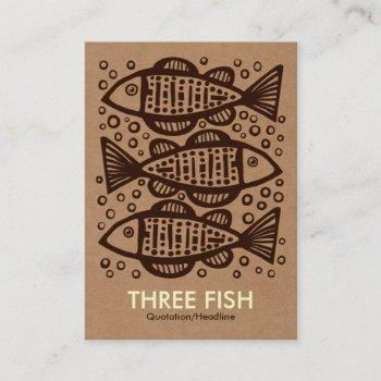 three fish - cardboard box tex business card