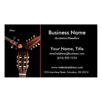 Small Three String Instruments Business Cards Front View