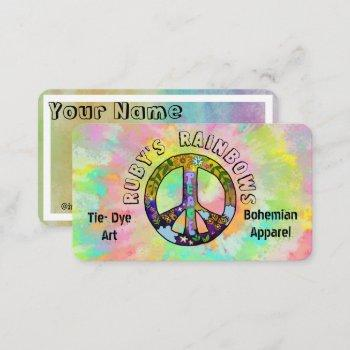 tie-dye art and bohemian appreal business card