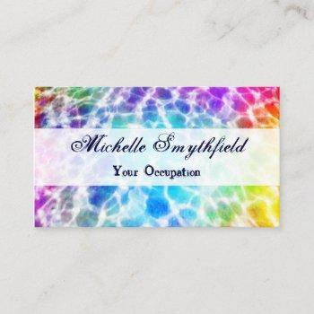 tiedye hippie wavy rainbow effect business card