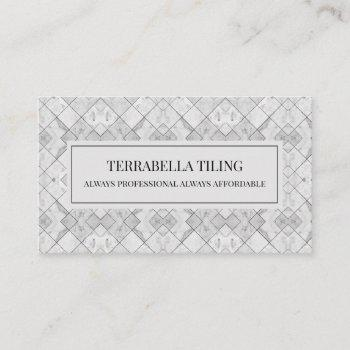 tiling flooring business card