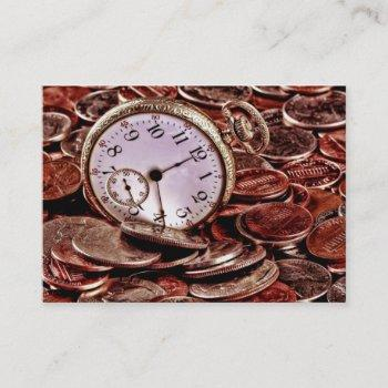 time and money business card