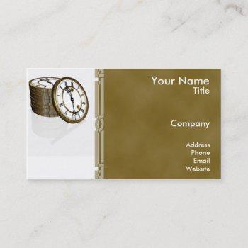 time is money business card