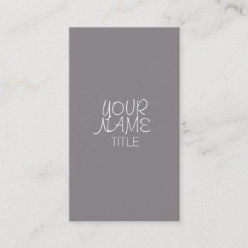 titanium freehand simple business card