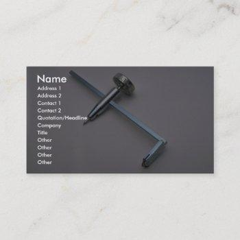 tools of trade- dry wall circle cutter business card