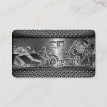 tow truck drawing business card
