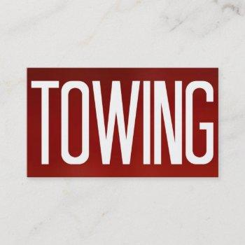 towing bold red business card