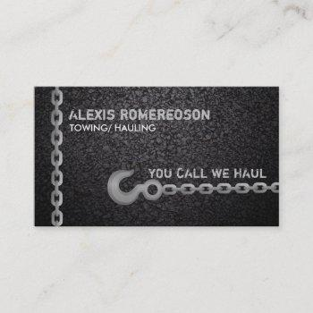 towing slogans business card