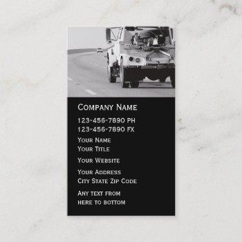 towing wrecker business card