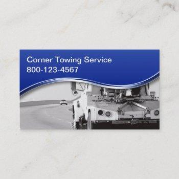 towing wrecker business cards