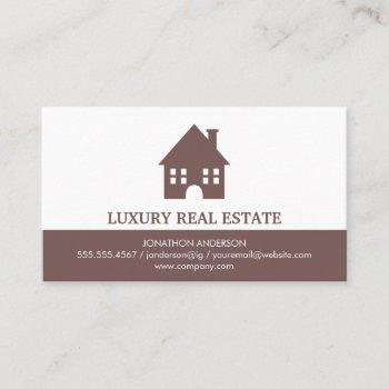 town home icon real estate agent business card