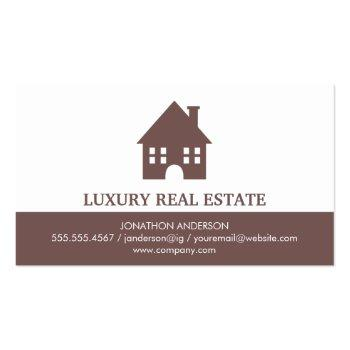 Small Town Home Icon Real Estate Agent Business Card Front View