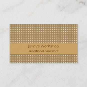 traditional hole to hole cane lattice business card