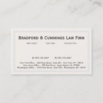 traditional vintage corporate office professional business card