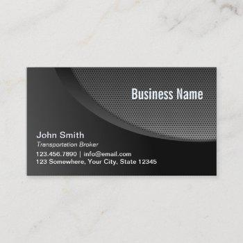 transportation broker modern black industrial business card