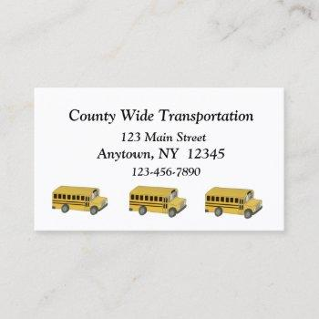 transportation business card