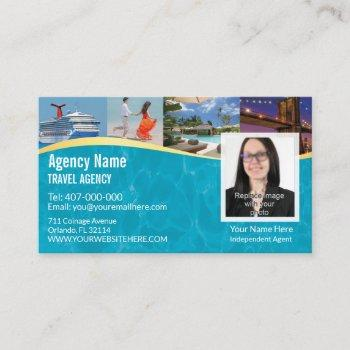 travel agent business card photo template