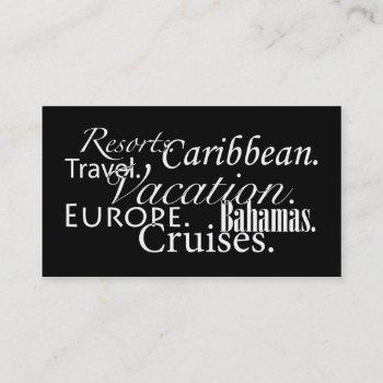 travel in blk/wht business card