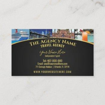 travel planner agent template business card