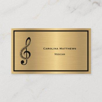 treble clef musician minimalist business card